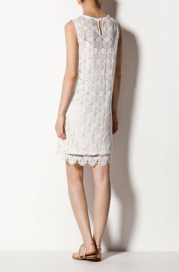 Fun white summer dress by Massimo Dutti