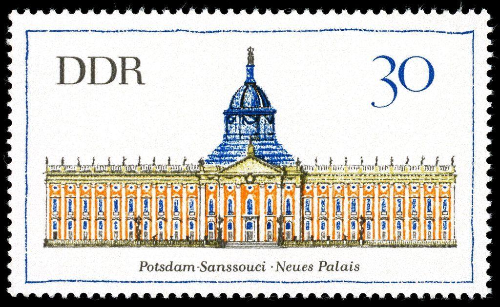 Ddr 1968 Neues Palais Bei Potsdam Brandenburg Potsdam Neues Palais Ddr