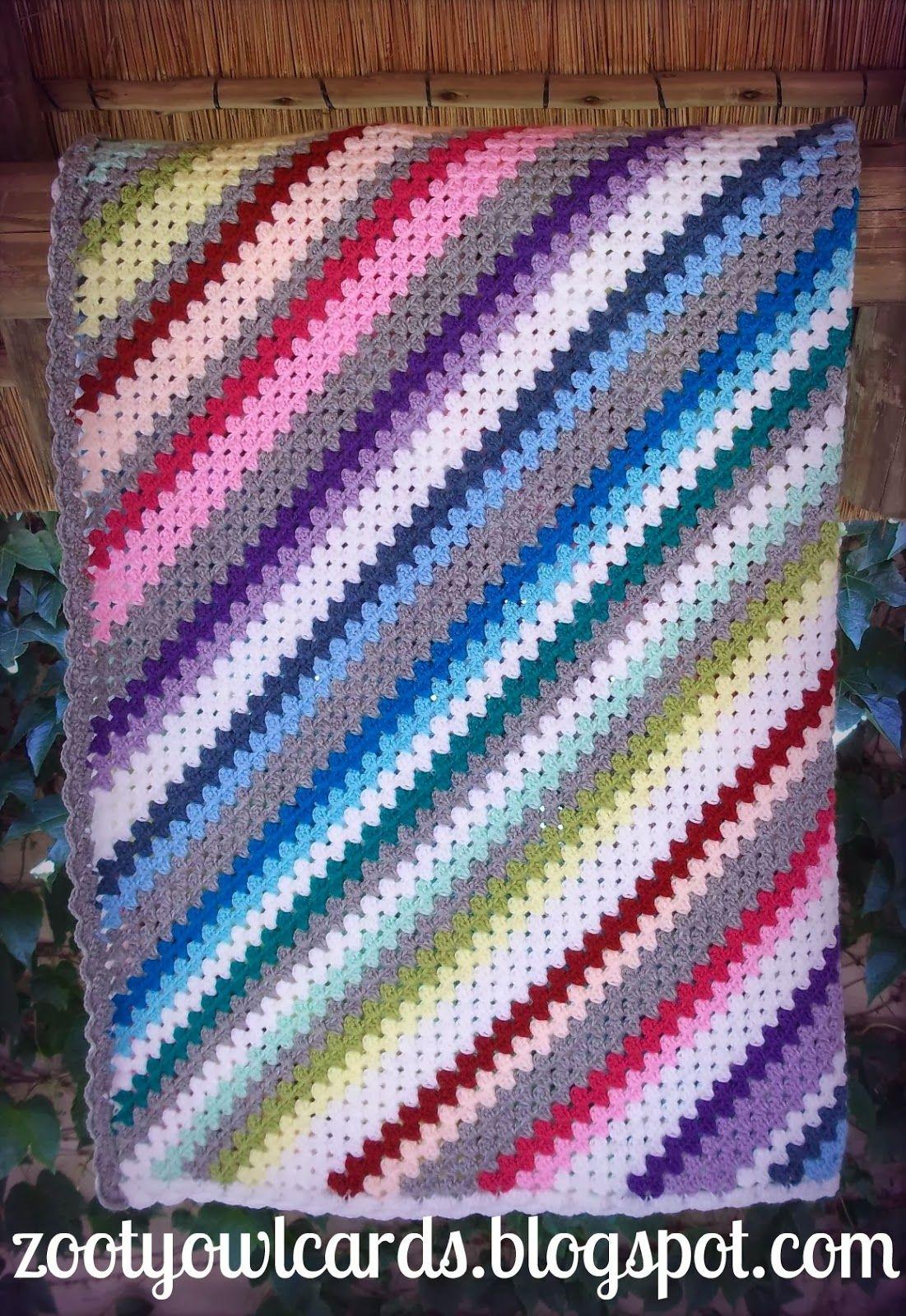 diagonal granny stripe   Crochet   Pinterest   Colchas, Manta y Bebe