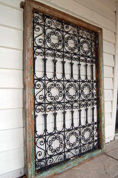 A Spanish Wrought Iron Grilled Window Wrought Iron Wall Decor