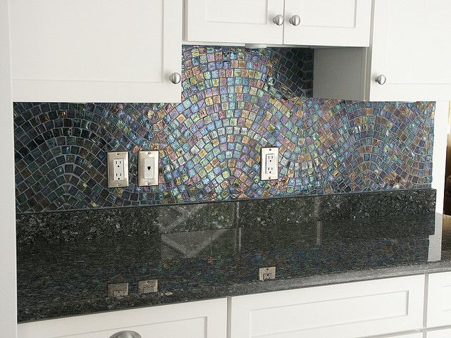 Iridescent Backsplash Mosaic Backsplash Iridescent Tile Glass
