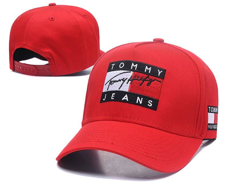 bb112ad4a60 Tommy Hilfiger Jeans Caps Hats Red 011