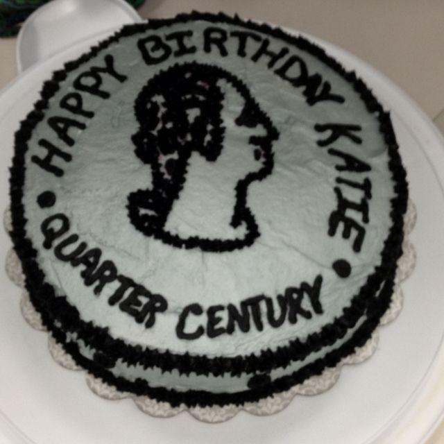 Quarter Cake For A 25th Birthday