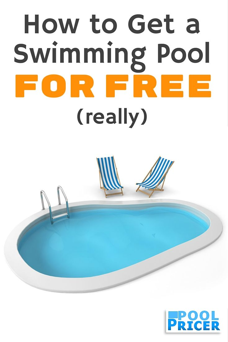 How to get a free swimming pool really swimming pools for Swimming pool builders