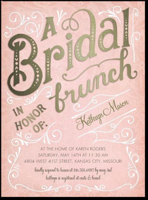bridal brunch shower invitations rose by wedding paper divas
