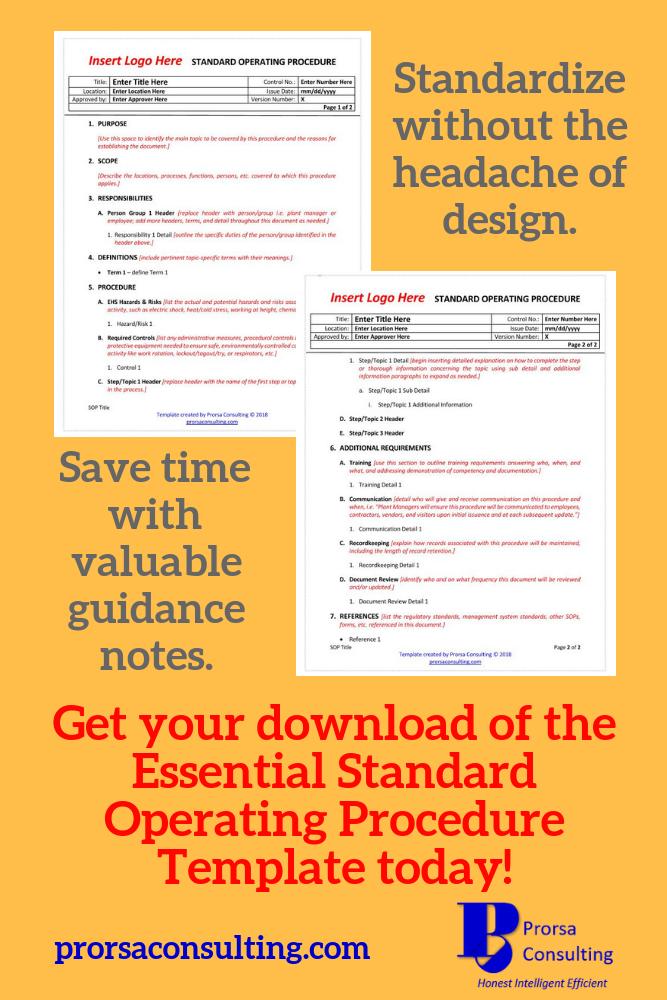 The Essential Standard Operating Procedure Template Standard Operating Procedure Standard Operating Procedure Template Free Printable Resume Templates