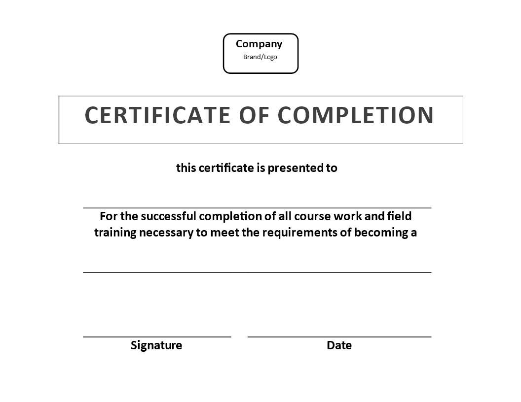 Training Certificate of Completion template - Download this Training ...