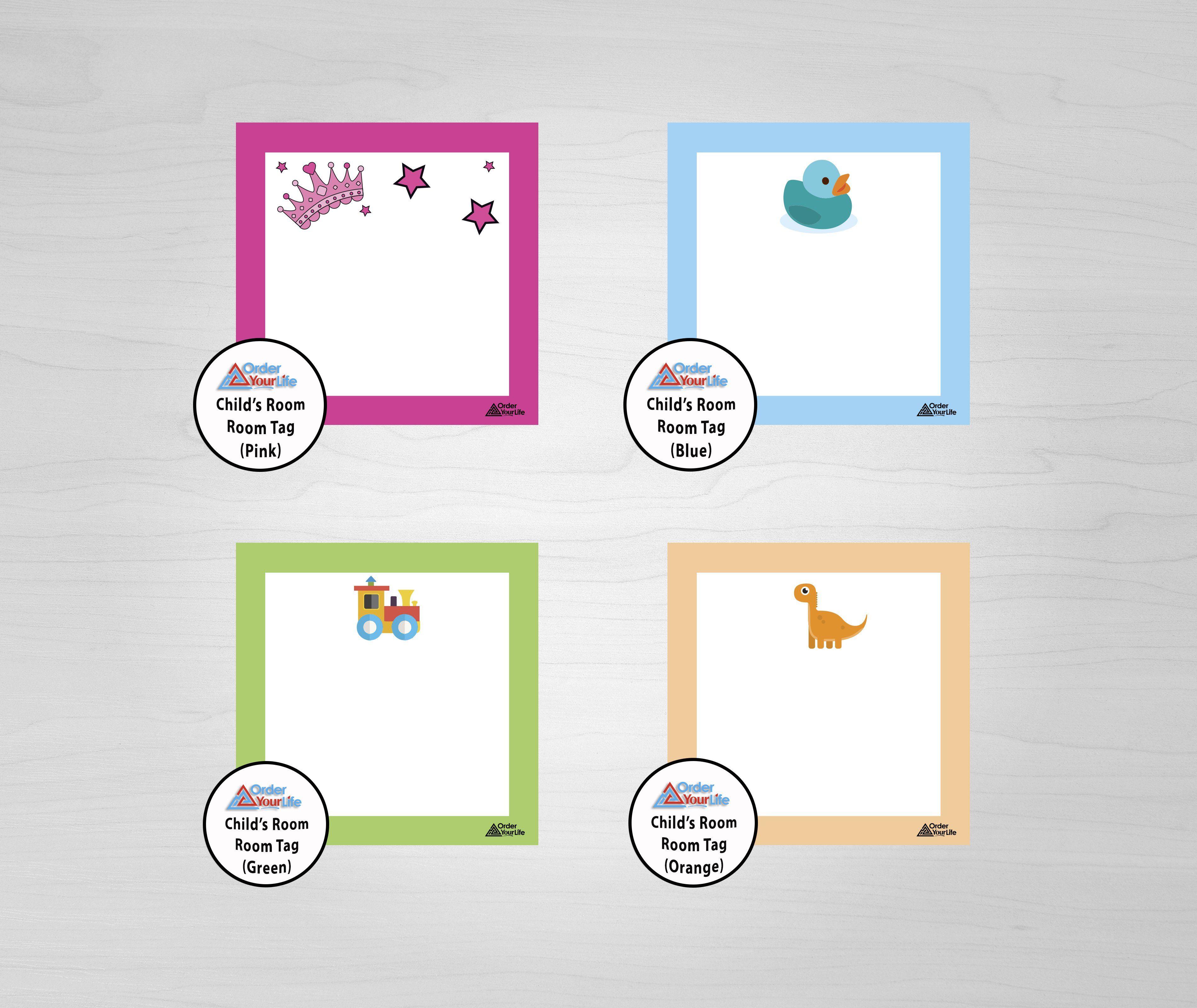 Room Tags - Print & Ship / Child's Room Room Tag (Pink)