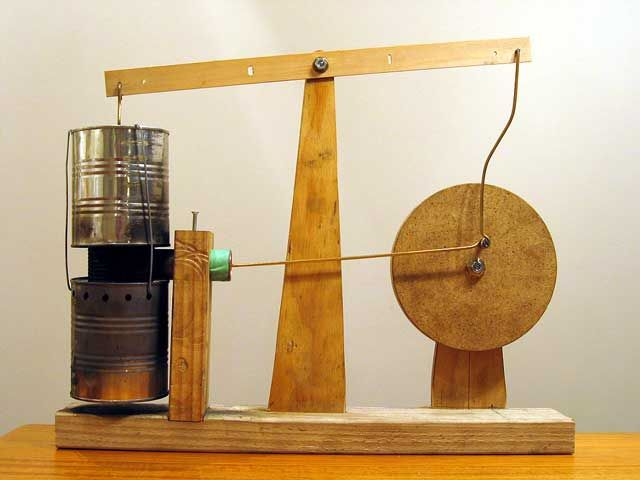 stirling hot air walking beam engine 17 Small Engines