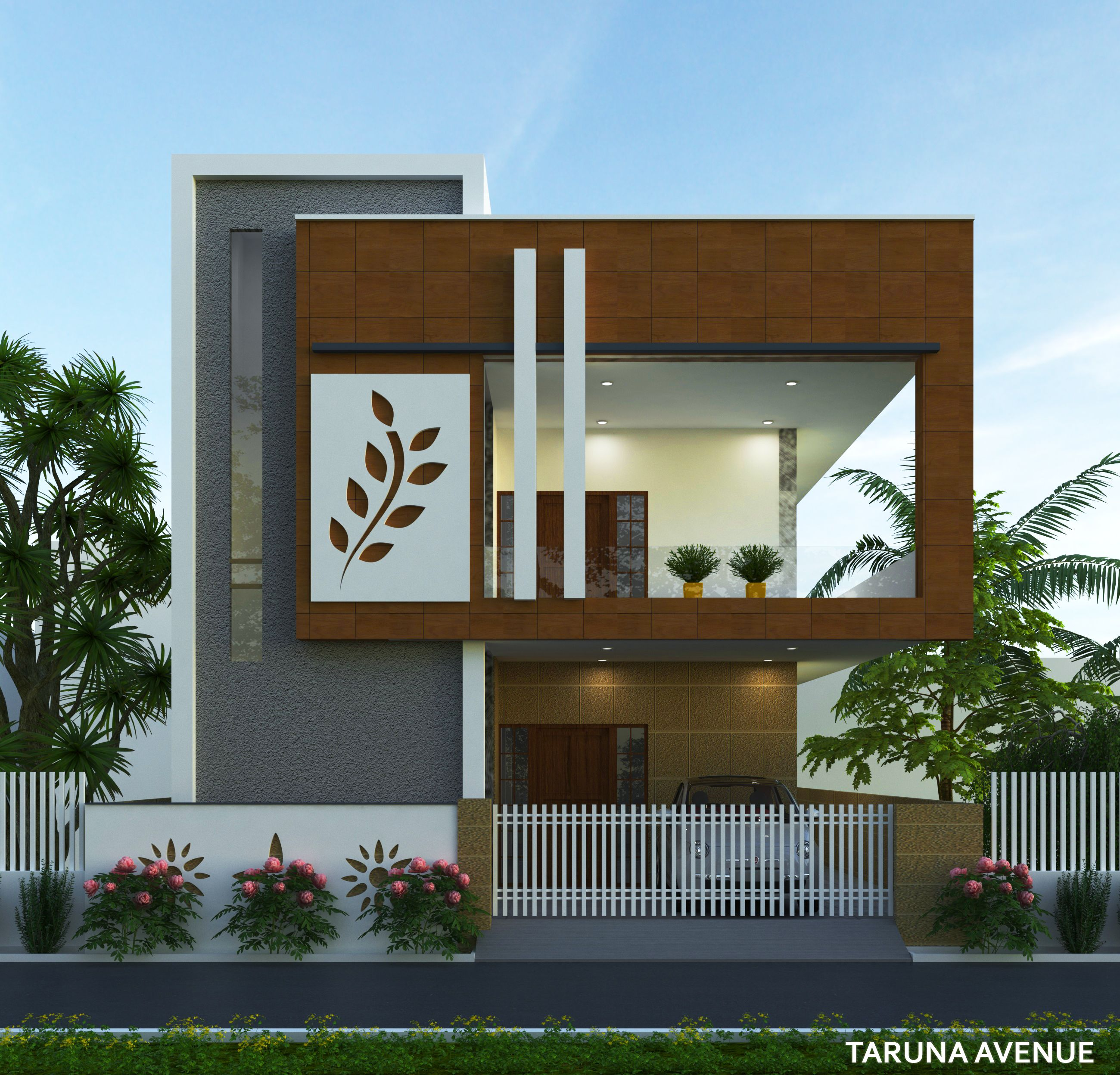 Pin By Parthiban Ban On 3d Architectural Visualization House Front Design Modern House Exterior Single Floor House Design