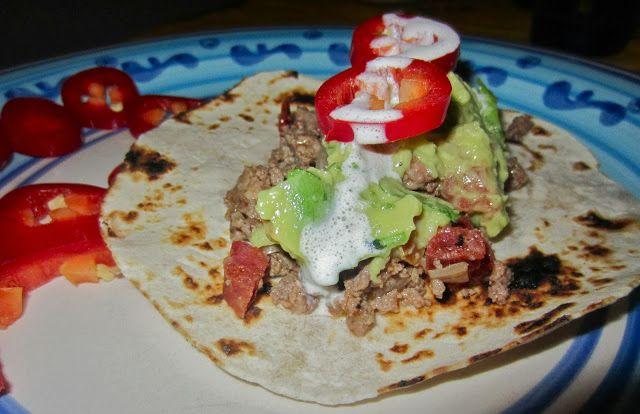 Ground Beef & Chorizo Soft Tacos. A Mate & a Rottweiler.