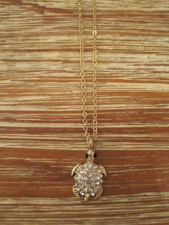 Gold Sea Turtle Necklace Turtle Gold Necklace Sea Turtle Jewelry