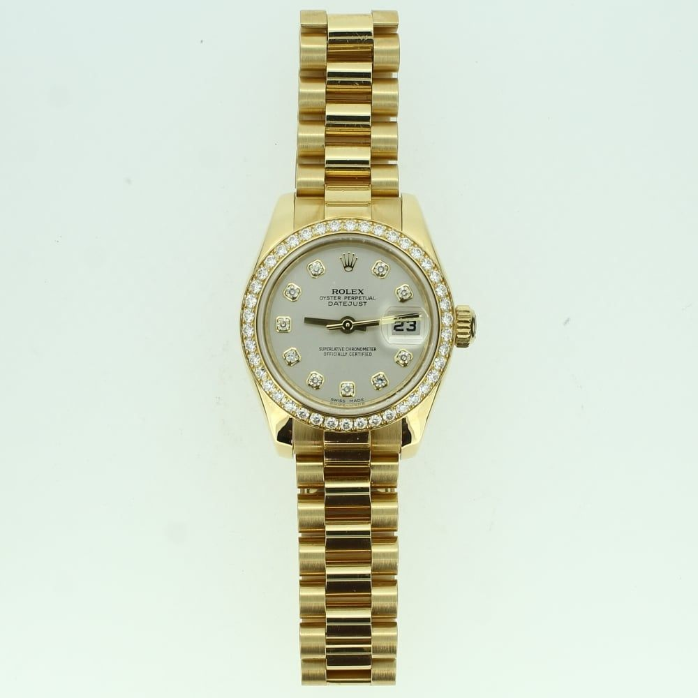 Preowned ladies ct rolex datejust watch a strikingly elegant and