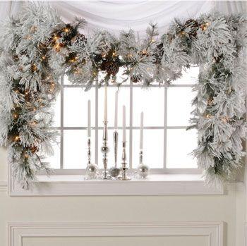 Winter Whites Winter White White Christmas Garland Christmas