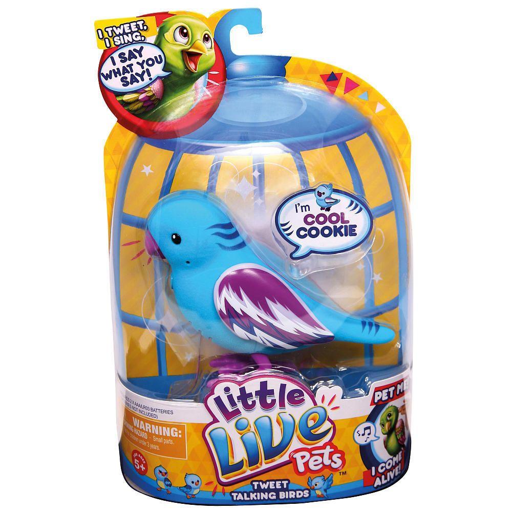 Little Live Pets Birds Cool Cookie Tweet Talking Bird NEW