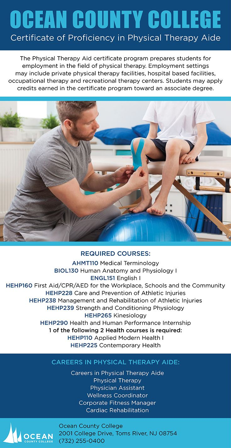 Certificate Of Proficiency In Physical Therapy Aide School Of