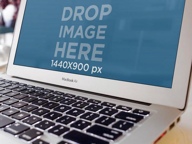 Placeit Closeup Mockup Of A Macbook Air Macbook Air Macbook Mockup Macbook