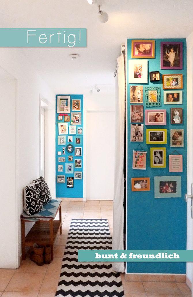 fotowand gestalten flur vorher und nachher t rkise wandfarbe home garden. Black Bedroom Furniture Sets. Home Design Ideas
