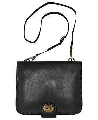 Fossil Handbag Vintage Revival Flap Portfolio Bag Handbags Accessories Macy S