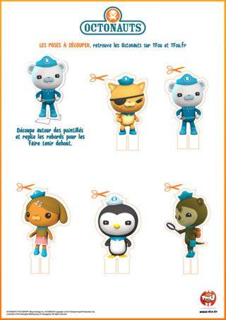 Octonauts character cut outs | Octonauts | Pinterest | Imprimibles