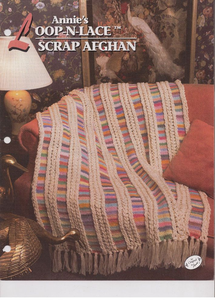 Loop N Lace Scrap Afghan Crochet Afghan Pattern Annies Attic Quilt ...