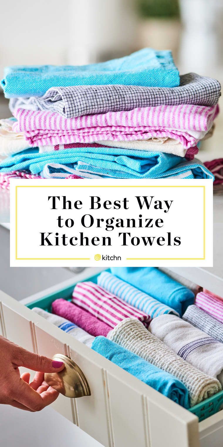 Marie Kondo S Method For Storing Kitchen Towels Is The Only Way To