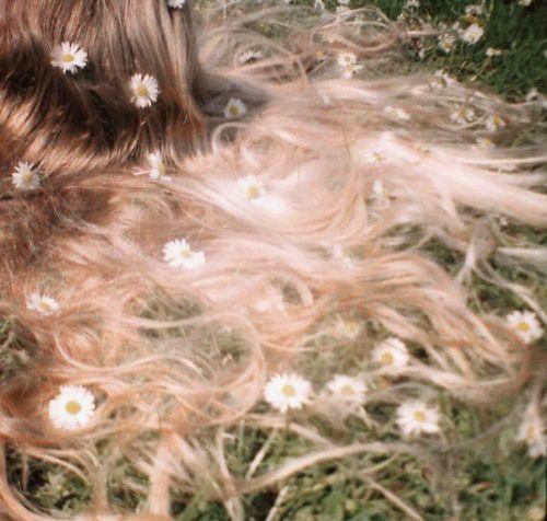 Flowery hair