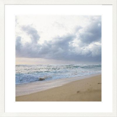 "Global Gallery 'Coastal Seaside I Center' by Judy Mandolf Framed Photographic Print Size: 32"" H x 32"" W x 1.5"" D"
