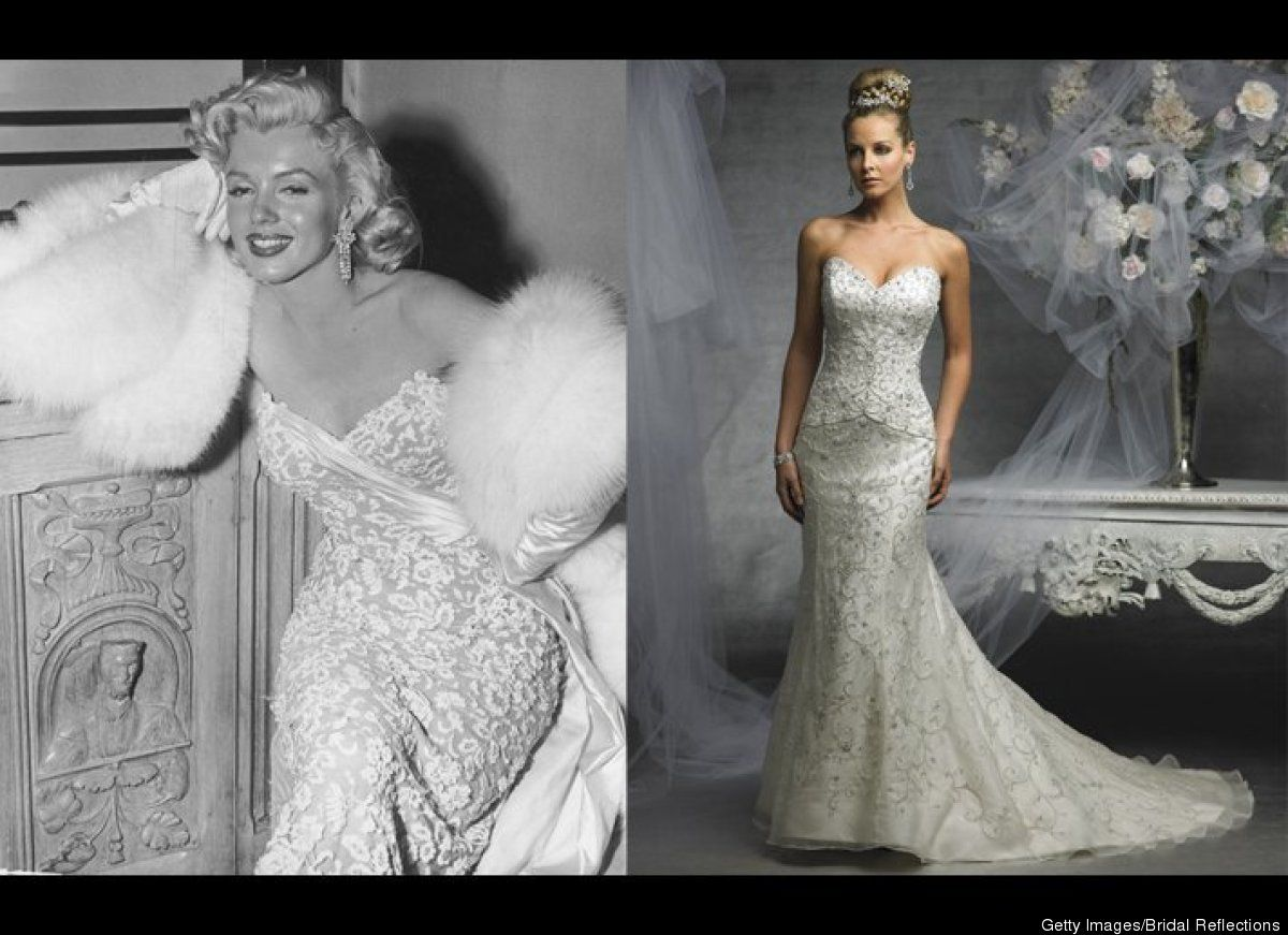5 Ways To Look Like Marilyn Monroe On Your Wedding Day DressesMarilyn