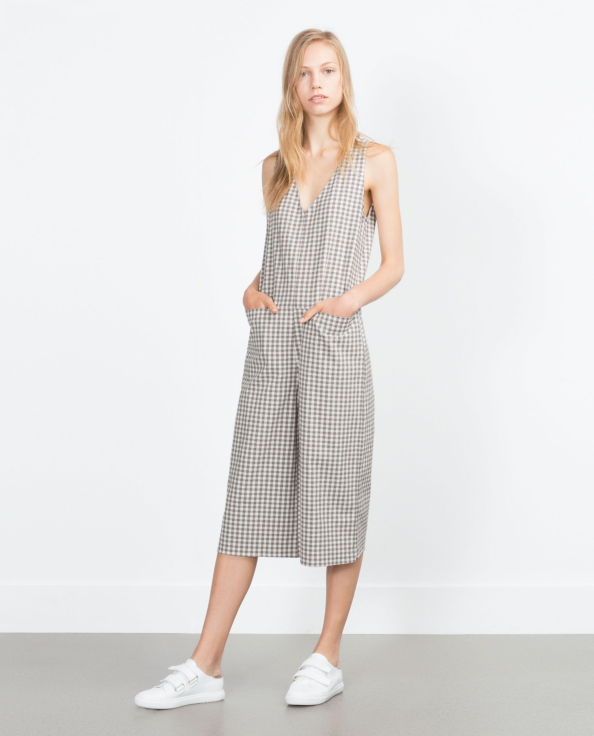 164d00f5278 GINGHAM CHECKED JUMPSUIT - Jumpsuits - WOMAN