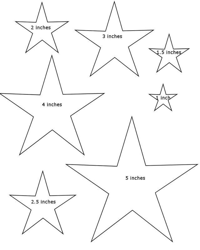 This is a picture of Star Stencil Printable within traceable