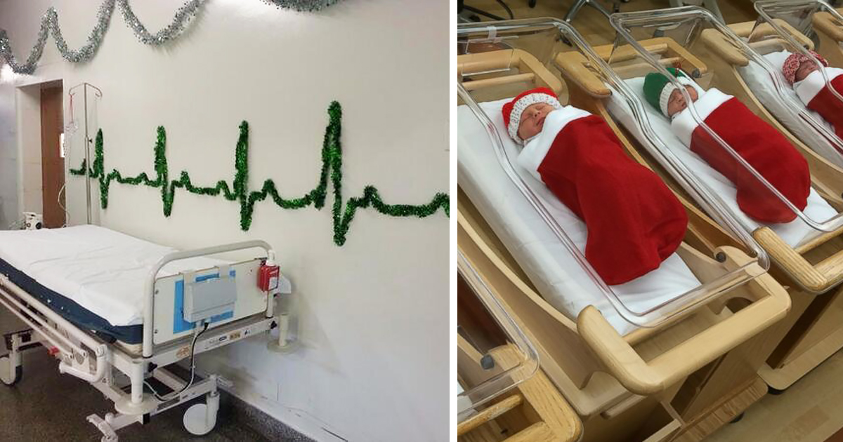 10 Hospital Christmas Decorations That Show Medical Staff Are The Most Creative People Ever Bored Diy Christmas Decorations Easy Christmas Decorations Decor