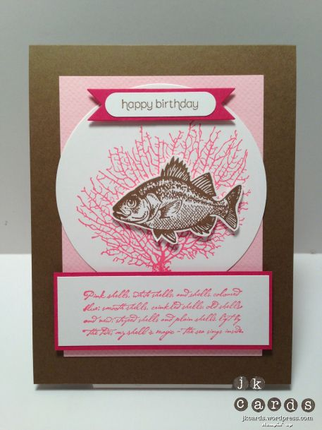 Stampin' Up!, Pretty Rose Tide B'day, By the Tide, Wishes Your Way, Netting Background, Bitty Banners Framelits, 3 1/3 Bigz Circle Die, Word Window Punch