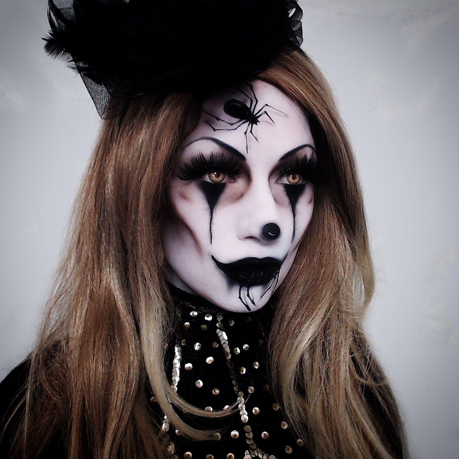 Clown spider Halloween skull makeup costume fx horror