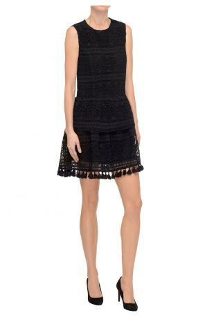 Lace Dress with Tassels