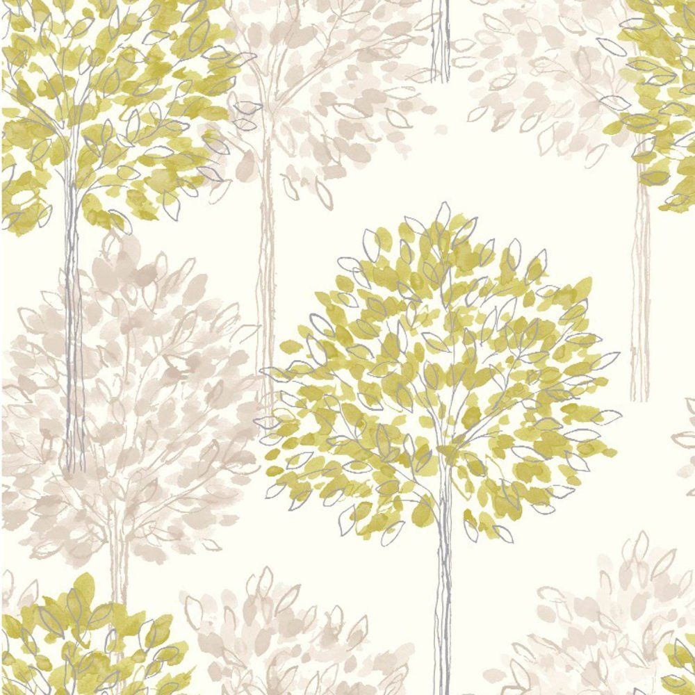 Green / Cream / Beige 417904 Boulevard Trees