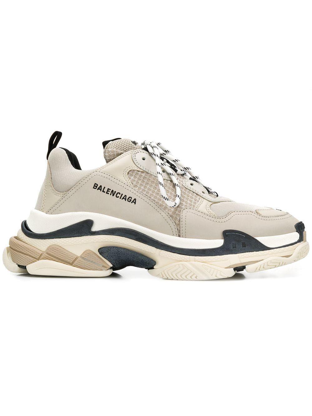 a01165507e93 BALENCIAGA BALENCIAGA TRIPLE S SNEAKERS - NEUTRALS.  balenciaga  shoes