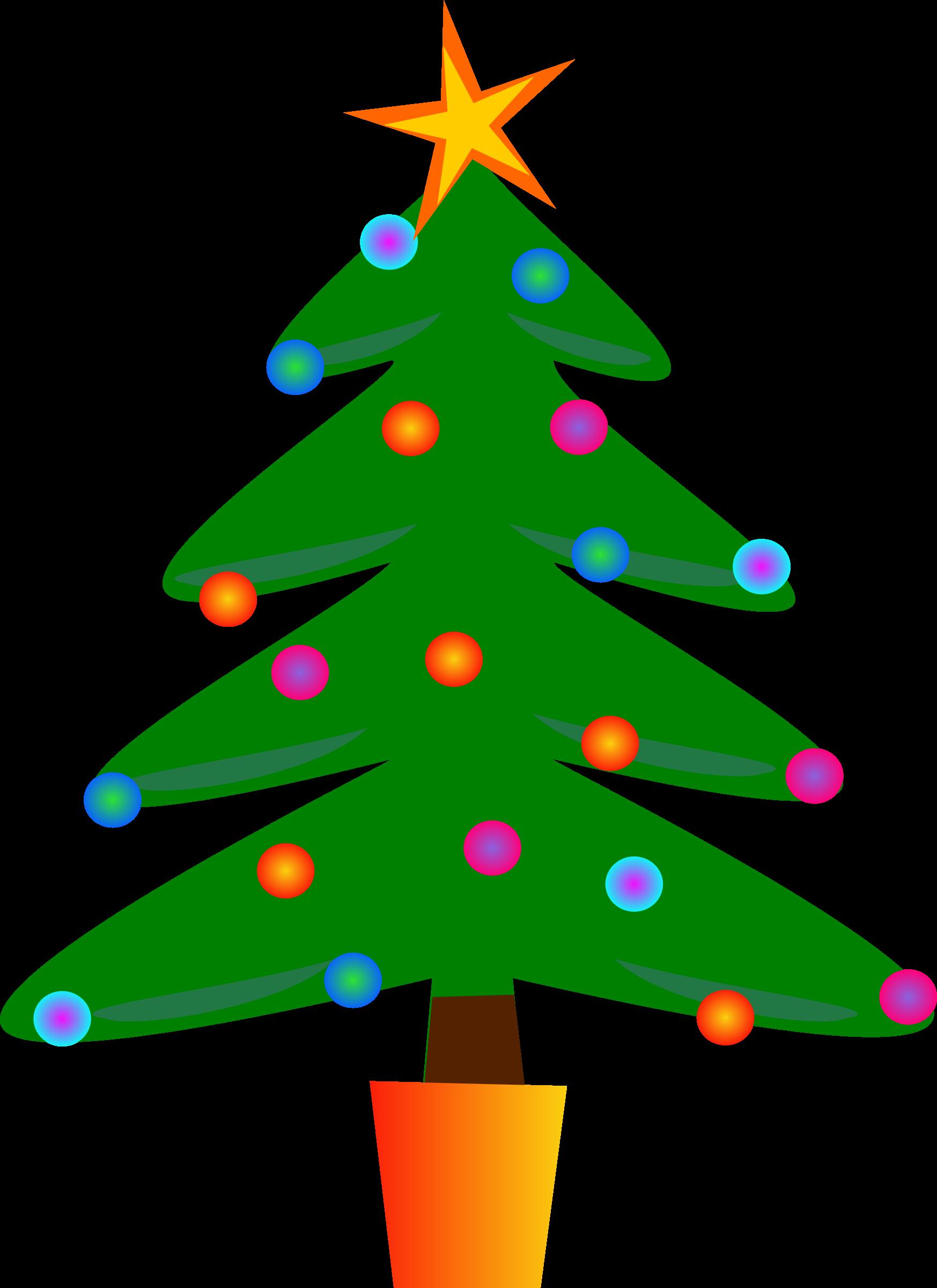 Christmas Tree Christmas clipart, Colorful christmas