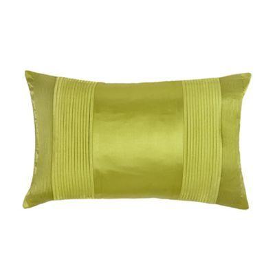 J by Jasper Conran Designer green pintucked satin cushion- at ...