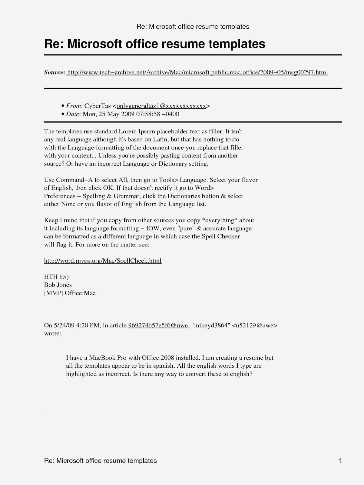 Polaris Office 5 Free Printable Resume Resume Templates