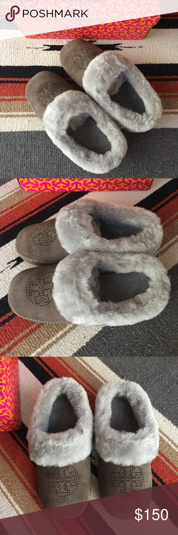 38aaf5de39a NWT Tory Burch Coley Perforated Suede Slippers NWT Tory Burch Coley  Perforated Slipper - Deep Split