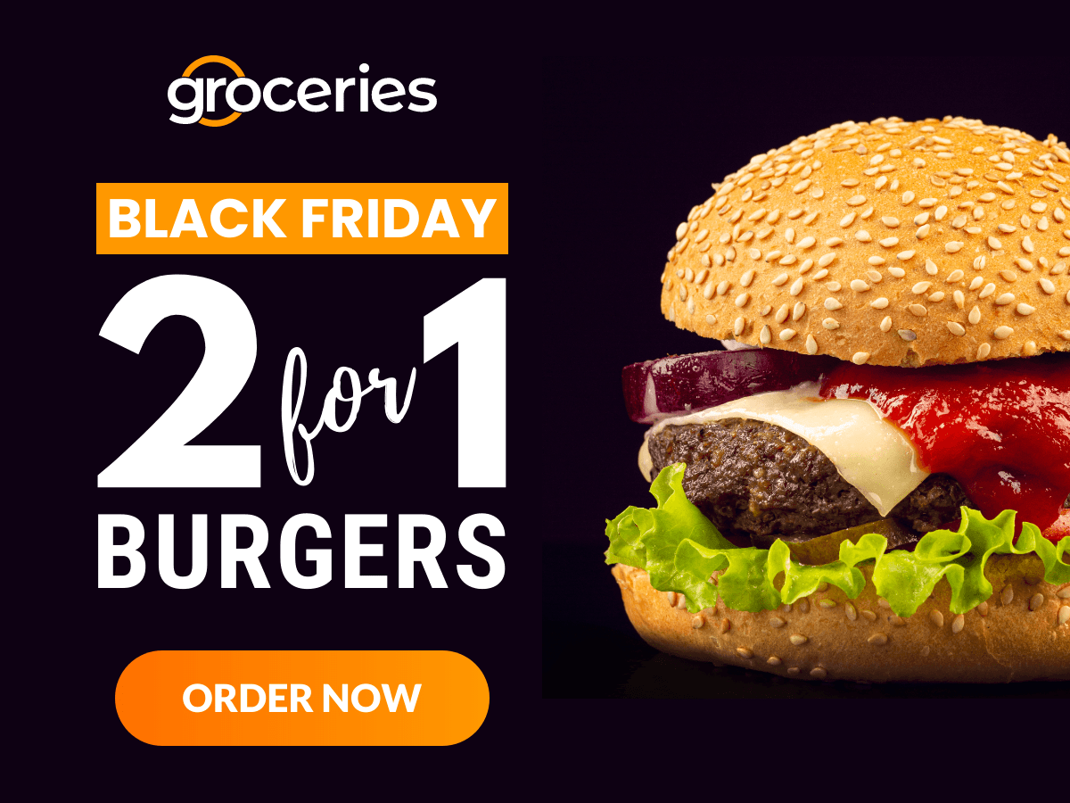 Black Friday 2 For 1 Burgers Ad In 2020