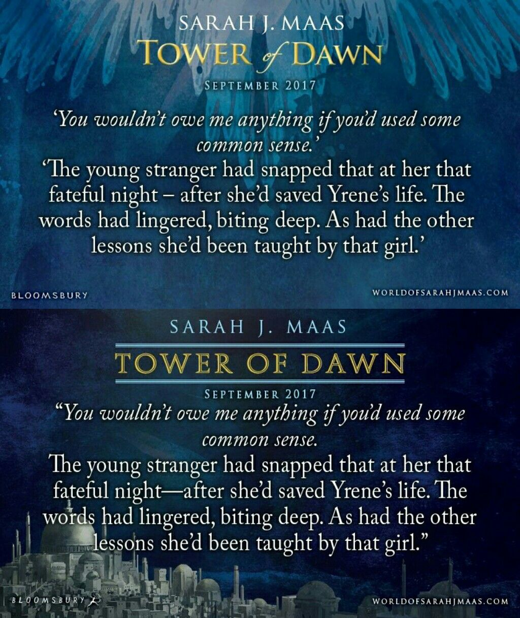 Im Anticipating To See How This Comes Into Play Tower Of Dawn Quote