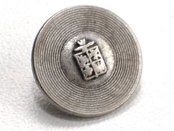 Vintage Metal pewter buttons. Set of 7 pcs with by NiceStitchGifts, $4.50