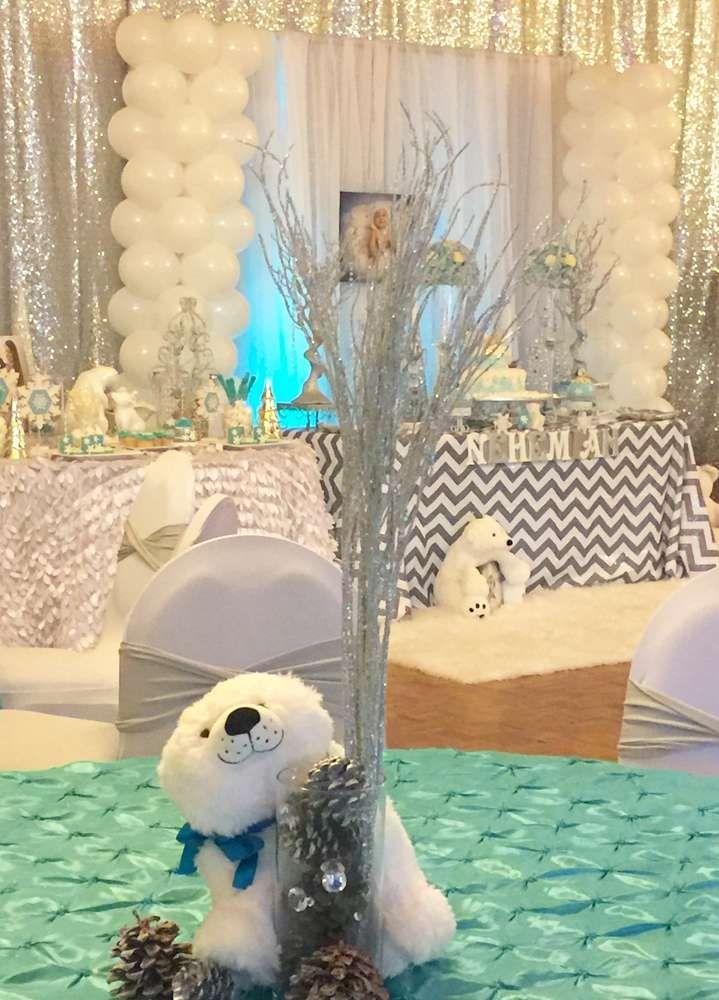 Winter wonderland and polar bears birthday party ideas