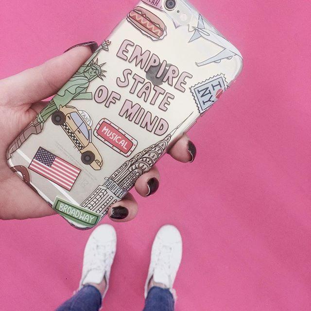 ✈️ #iPhoneケース #iphone7 #iPhonecase #yeahbunnycase #allpink #pink #yeahbunnyjapan #newyork #kiss