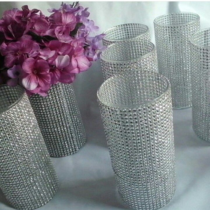 Bling Vases Party And Diy Pinterest Bling Wedding And Weddings