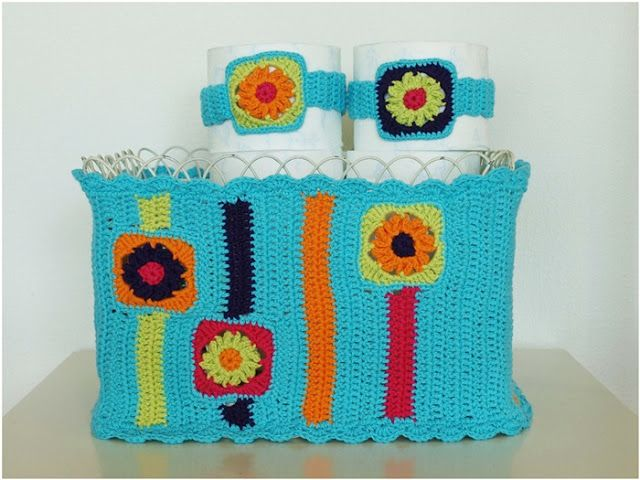 Crochet Toiletpaper basket Zoomsnoren
