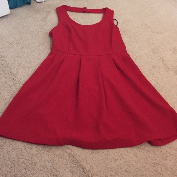 Red dress This dress was worn once! I got for Halloween to go as Minnie Mouse Forever 21 Dresses