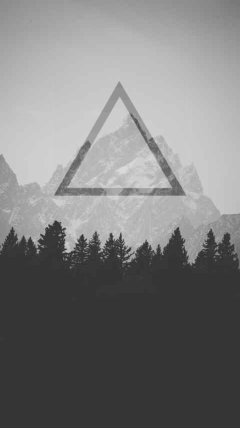 wallpaper, hipster triangle | ideas for wall | Pinterest ...